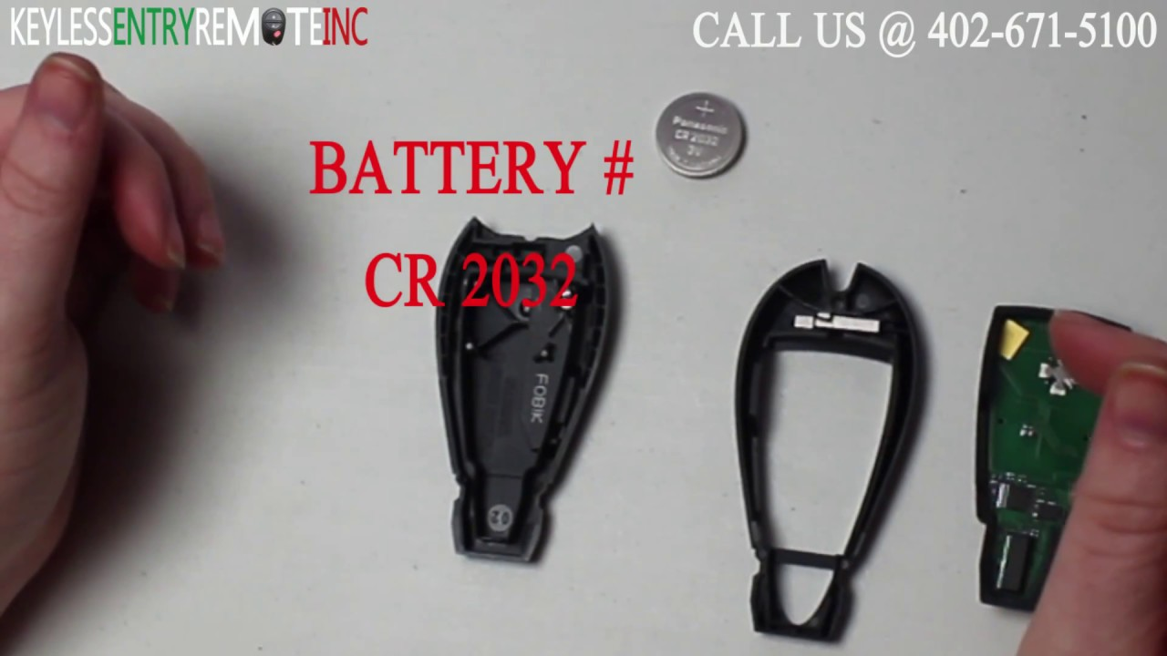 How To Replace A Dodge Charger Key Fob Battery 2008 2012 Youtube