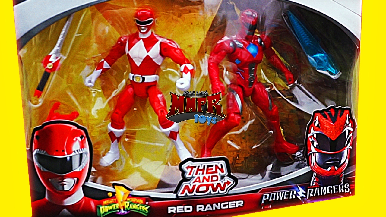 Power Rangers Then And Now Mmpr Figures Mighty Morphin Youtube