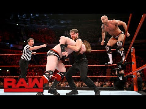 Seth Rollins & Dean Ambrose vs. Cesaro & Sheamus - Raw Tag Team Title Match: Raw, Nov. 6, 2017