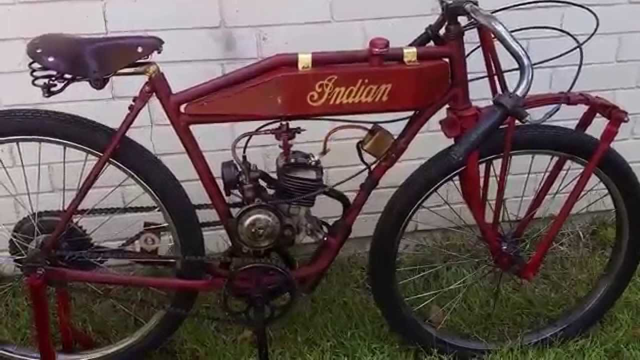 Custom Built Indian Board Track Replica Racer Motorized Bicycle