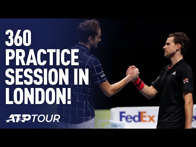 360 Camera Practice Session | Thiem & Medvedev | Nitto ATP Finals