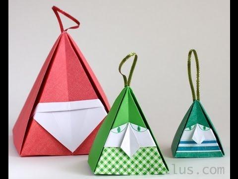 Christmas Origami Santa And Elf Youtube