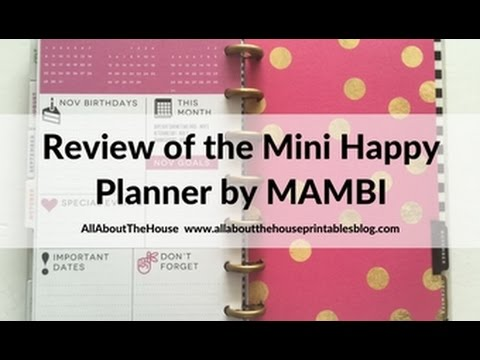 MAMBI Mini Happy Planner Review (pros, cons and is it worth it) - me and my big ideas