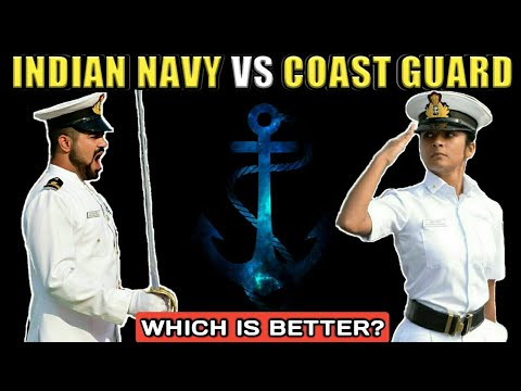 Indian Navy Vs Indian Coast Guard - Difference Between Indian Navy And Indian Coast Guard (Hindi)