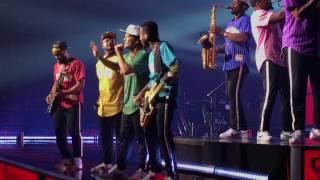 Bruno Mars performing Perm at SAP Arena, 7-21-17