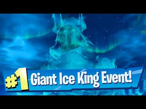 Giant Ice King (Ice Storm) Event Gameplay - Fortnite Battle Royale