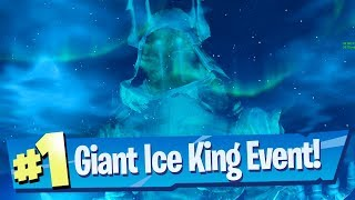 Giant Ice King (Ice Sphere) Event Gameplay - Fortnite Battle Royale