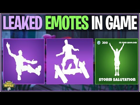 *NEW* Fortnite: SEASON 4 LEAKED EMOTES! *Smooth Ride, Rocket Spinner, And More* | (In-Game Showcase)
