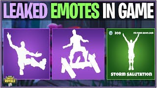 Fortnite: SEASON 4 LEAKED EMOTES! «Smooth Ride, Rocket Spinner, et plus (Vitrine dans le jeu)