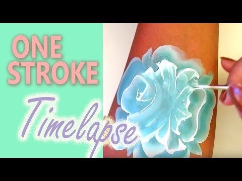 Face Painting Tutorial One Stroke Rose