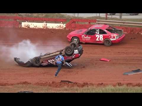 11/23/19 SCDRA Feature Race, 2 cars flipped over - 40 lap feature