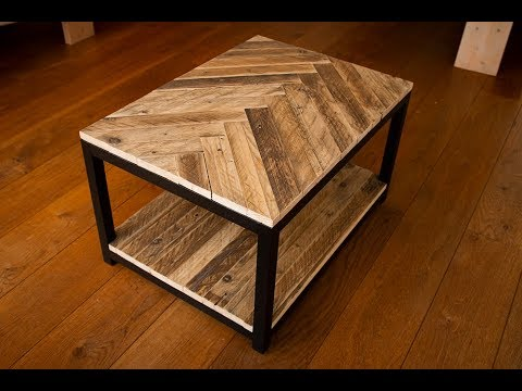 Industrial Pallet Wood Coffee Table Without Steel Youtube