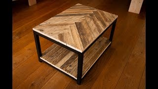 Industrial pallet wood coffee table without steel