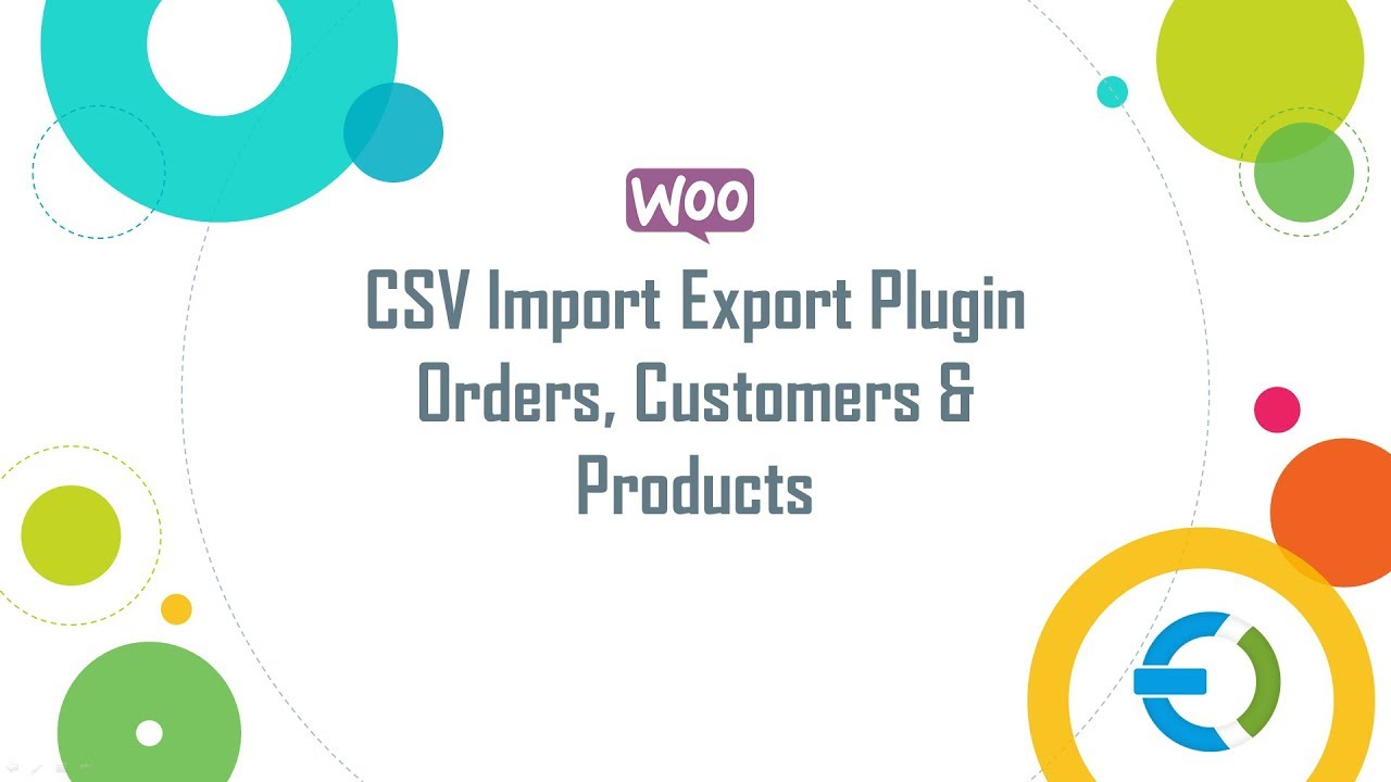 WooCommerce CSV Import Export Orders, Customers, Category Plugin