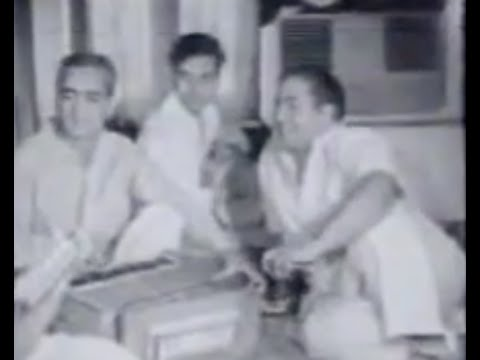 Mohd. Rafi - Live Video of Studio Recording