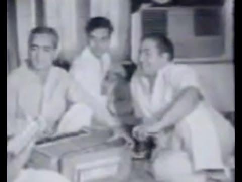 Mohd. Rafi - Live Video of Studio Recording