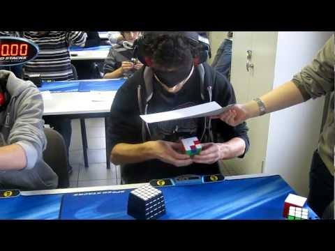 Marcell Endrey Rubik's Cube blindfolded former World Record 28.80s