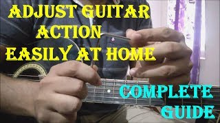 How To Lower Guitar Strings & Fret Distance - Set Up Guitar Action Easily at HOME | Adjust Truss Rod