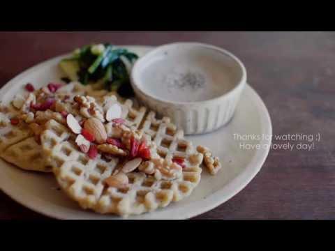 | World food | The BREAKFAST Japan | Waffles, Soup & Vegetable Saute !!!