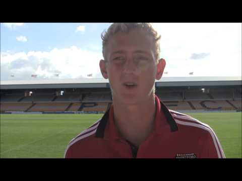 George Saville talks after his first competitive game in a Bees shirt