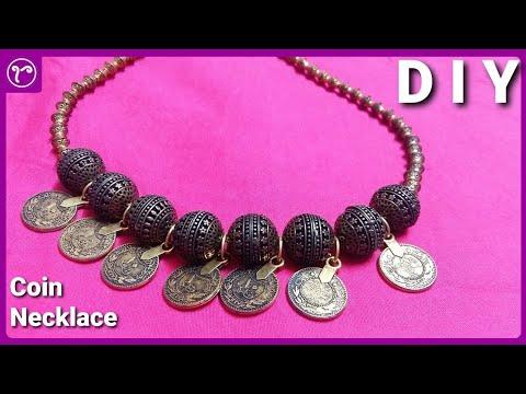 DIY Coin Necklace Junk Jewellery Making   Handmade Jewellery Making