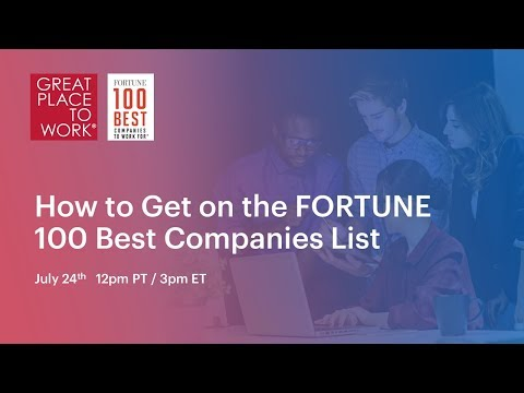 Webinar: How to get on the FORTUNE 100 Best Companies List