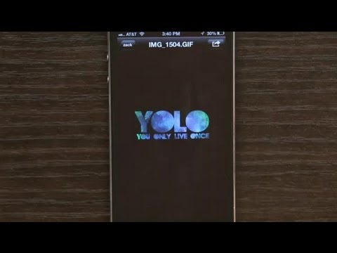 how to make a gif on iphone from youtube