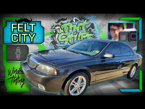 🔴 DIRTY FELT! Lincoln LS Full Window Tint 20% Avery Dennison // How To Tint A Full Car