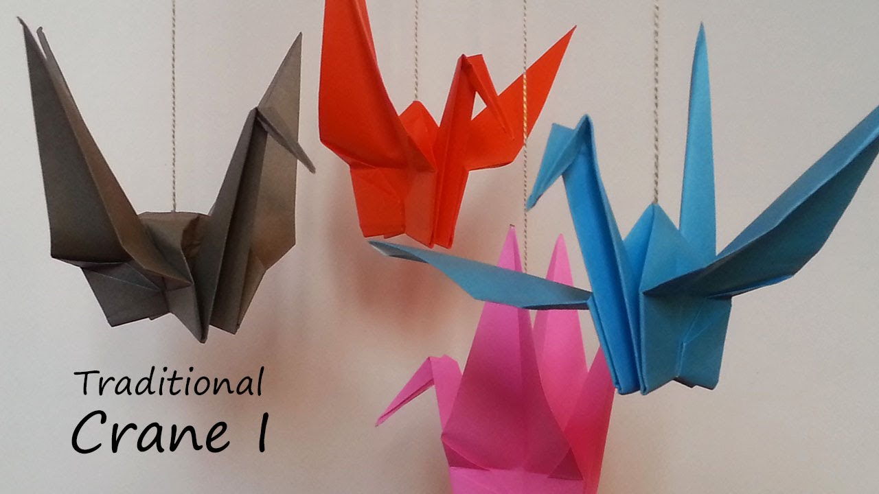 Traditional origami crane i tutorial youtube for Crane tutorial