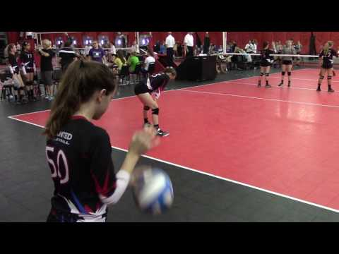 Epic U12 National Rox & Attack12 Select first set Epic won 25:20