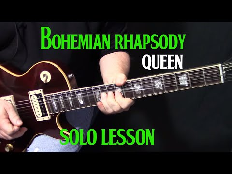 """How To Play """"Bohemian Rhapsody"""" On Guitar - Guitar Solo Lesson"""