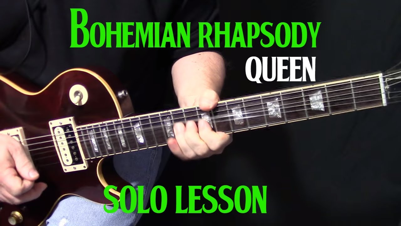 how to play bohemian rhapsody on guitar guitar solo lesson youtube. Black Bedroom Furniture Sets. Home Design Ideas