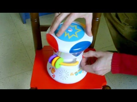 Fisher-Price Bright Beats 2in1 Musical Drum Roll demo (2014, real sound, no circuit-bending)
