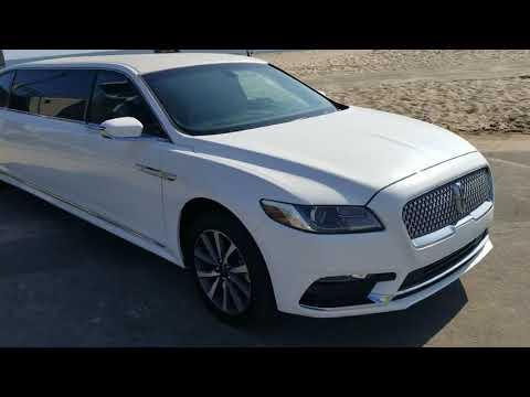 2018 White 70 Inch Lincoln Continental Limousine For Sale