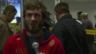 Участники Чемпионата России по вольной борьбе прилетели в Якутск