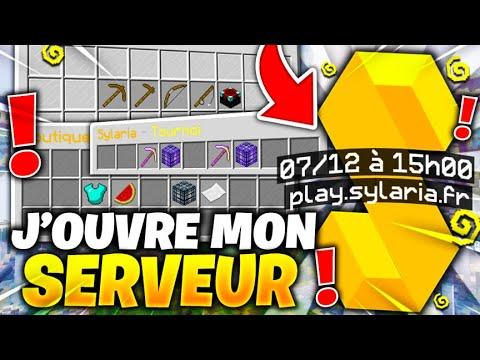 OUVERTURE DE MON SERVEUR MINECRAFT PVP/FACTION ! ( 07/12 15h00 )