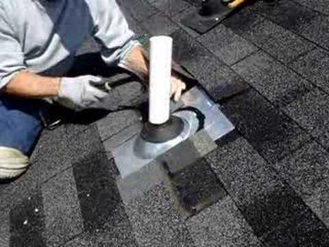 Md Roofing Services Pipe Collar Repair On Roof In Bowie