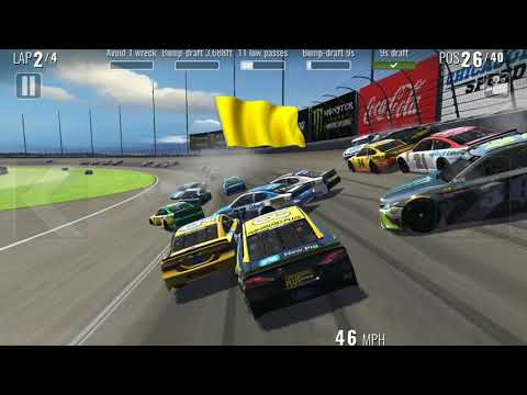 Nascar Heat Mobile-Chicagoland [Big Crash]