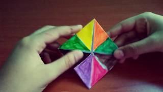 DIVERTIAMOCI INSIEME| Origami 3d il gioco del paradiso e inferno! Sei fortunata/o?! ;-)