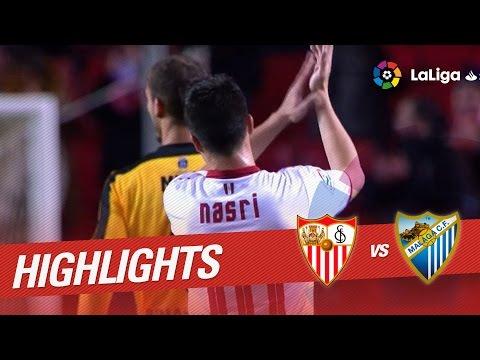 Resumen De Sevilla FC Vs Málaga CF (4-1)