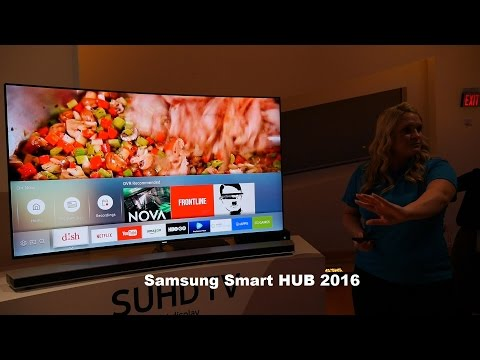 Samsung KS9500 Smart Hub hands on [Tizen TV 2.0]