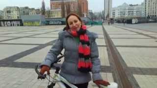 Уроки езды на велосипеде. Алина