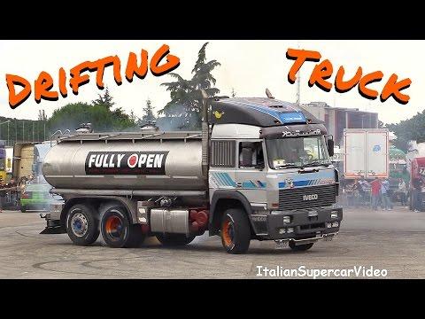 CRAZY Drifting Truck vs BMW e30 proto - Iveco Turbostar 190-48 - Rombo Rock 2016
