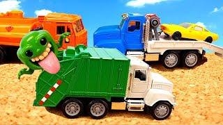 Машинки мусоровоз и Эвакуатор Игрушки для детей Garbage truck & tow truck for kids Cars Спецтехника