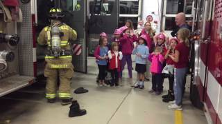 How long does it take a fireman to put on his gear? (Warrenville Fire Department)