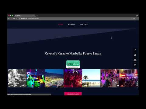 Web-design and development for Karaoke Bar