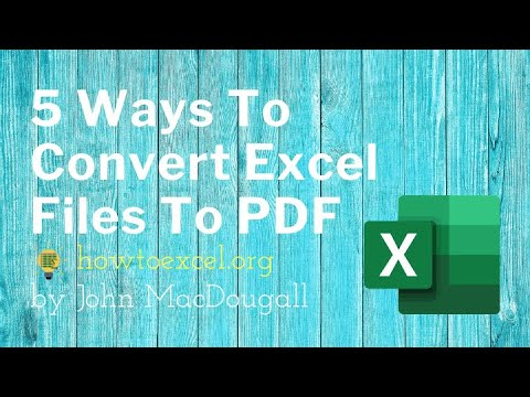 5 ways you can easily convert your Excel file into a PDF