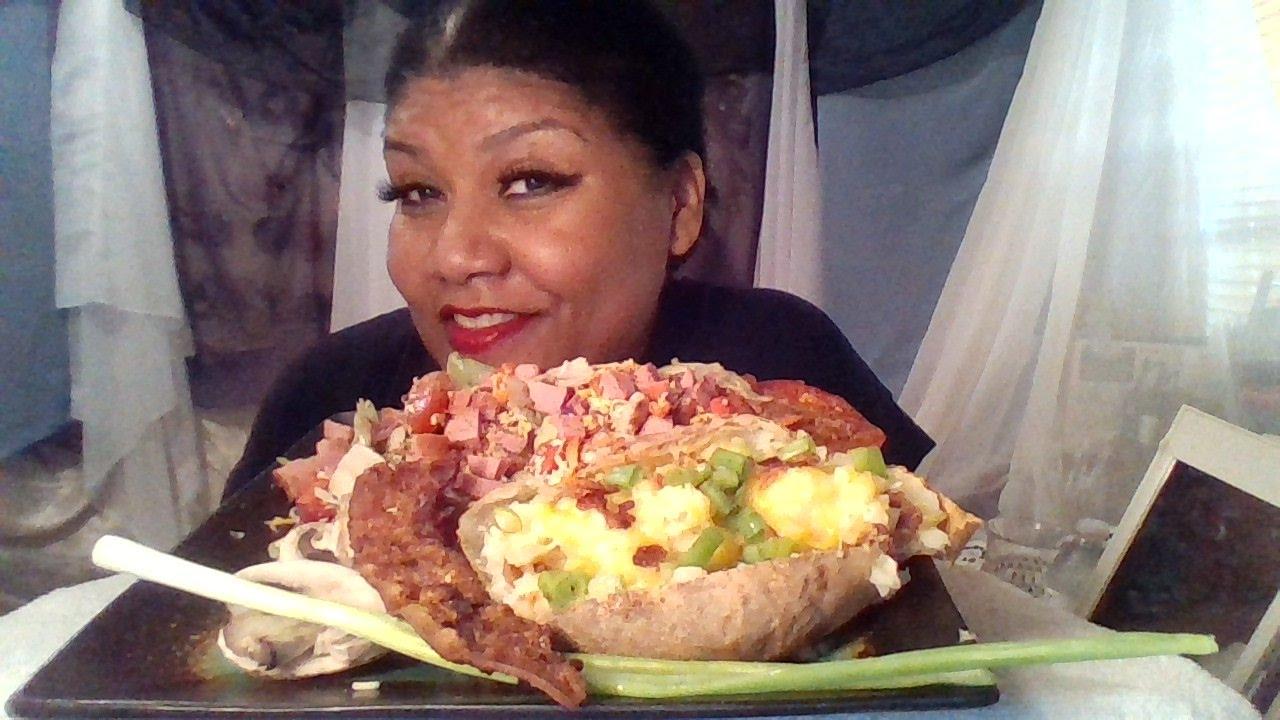 New York bake potato Muk-bang 💋