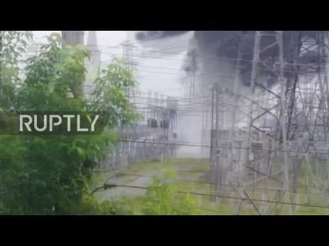 Russia: Footage captures moment of massive blast at electrical substation in Tomsk