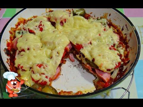 Рецепт пиццы на сковороде на сметане